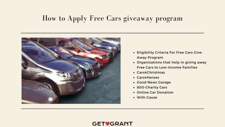 Free Cars giveaway program - 2021