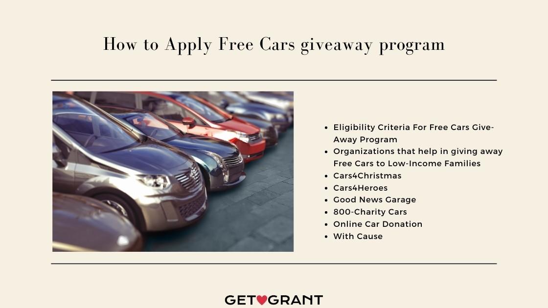 Free Cars giveaway program - 2021