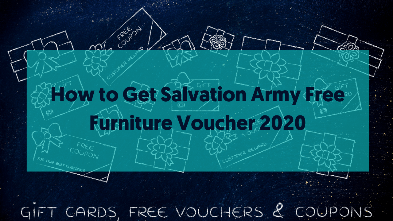 How to Get Salvation Army Free Furniture Voucher 2020