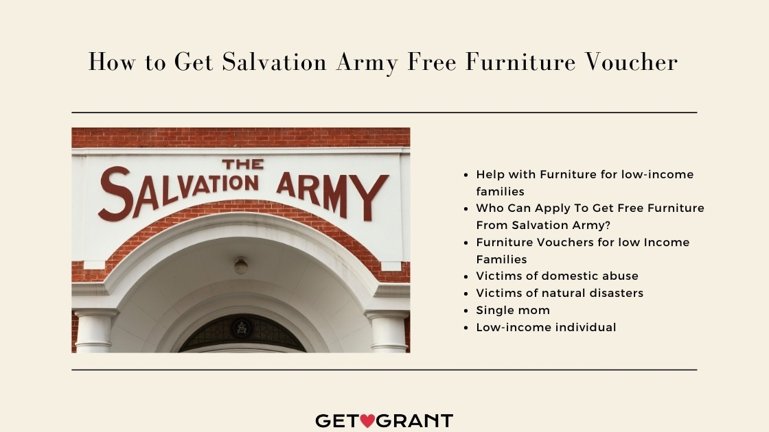 How to Get Salvation Army Free Furniture Voucher 2021