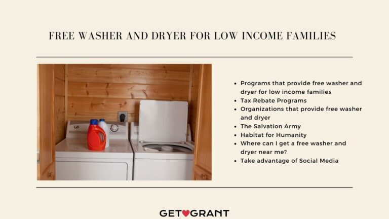 Free Washer And Dryer For Low Income Families