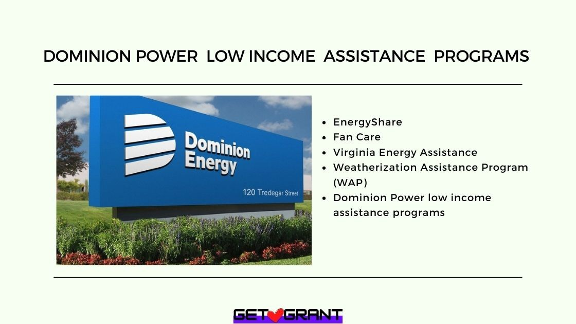 Dominion Power low income assistance programs