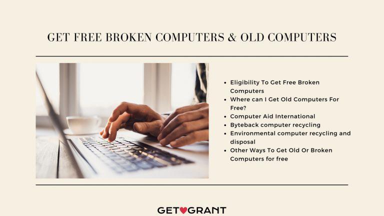 Get Free Broken Computers & Old Computers - 2021
