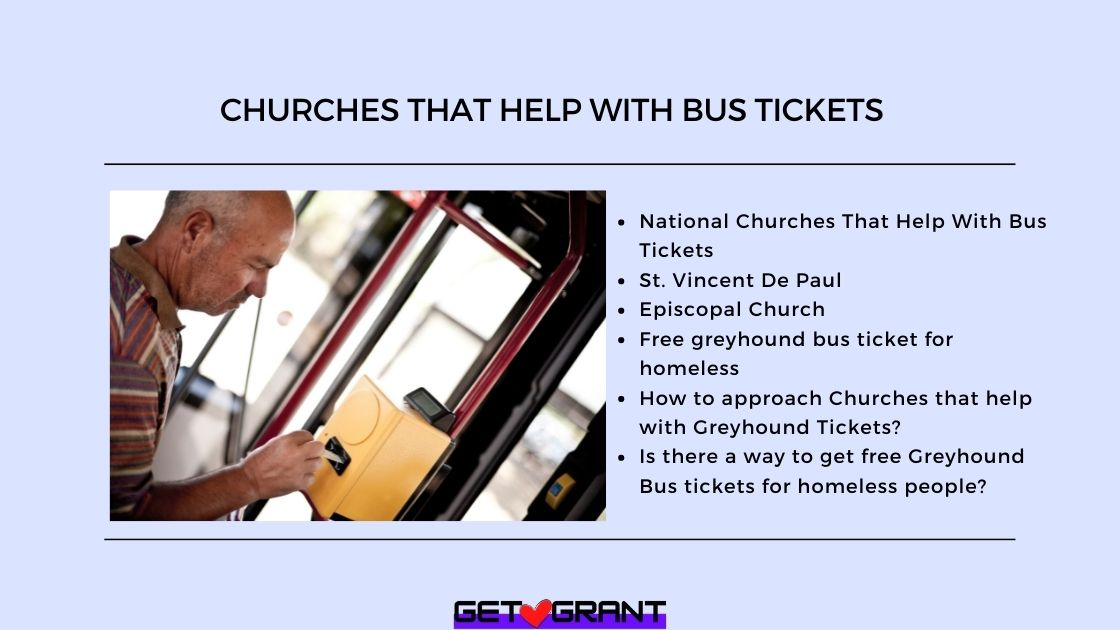 Churches That Help With Bus Tickets