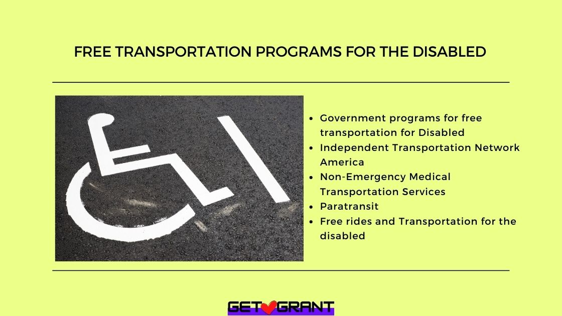 Free Transportation Programs for the disabled