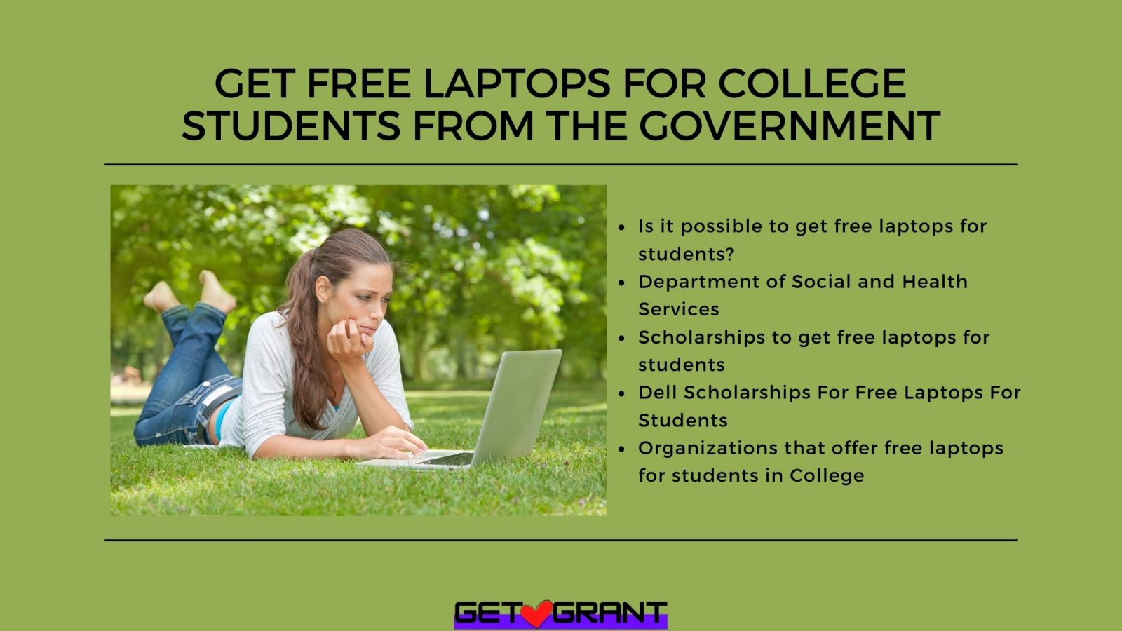 Get Free Laptops for College Students from the Government