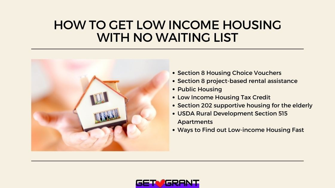 How To Get Low income Housing With No Waiting List