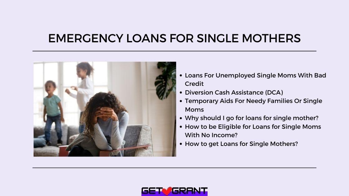 Emergency Loans For Single Mothers